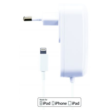 Gecko Travel Charger Apple Lightning 2.1A White GG500026