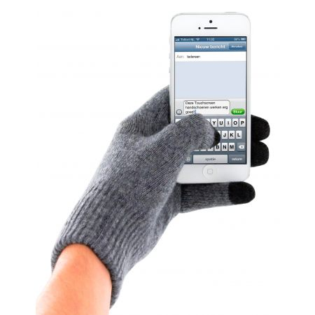 Mobiparts Touchscreen Gloves Grey (Size L) MP-TGLOVE-L-12