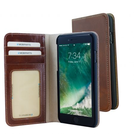 Mobiparts Excellent Wallet Case Apple iPhone 7 Oaked Cognac EXC-WAL-IP7-07