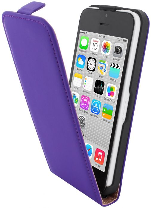 Mobiparts Premium Flip Case Apple iPhone 5C Purple PRE-FLIP-IP5C-08