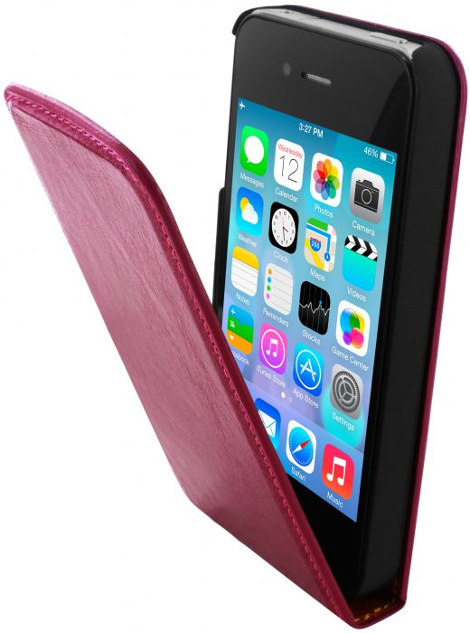 Mobiparts Luxury Flip Case Apple iPhone 4/4S Ruby Pink LUX-FLIP-IP4/4S-03