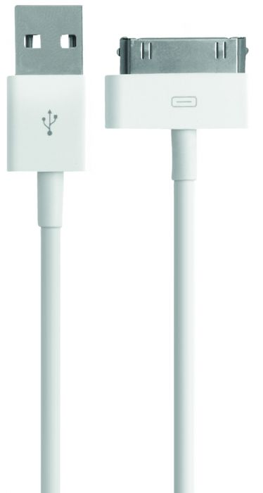 Mobiparts Apple 30 Pin to USB Cable 2.4A 1m White MP-CAB-30PIN-1M-02