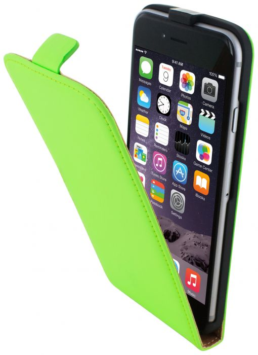 Mobiparts Premium Flip Case Apple iPhone 6/6S Green PRE-FLIP-IP6-06