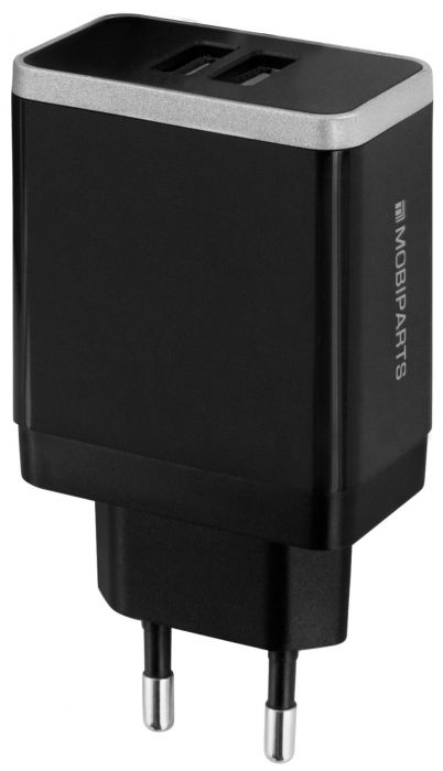 Mobiparts Wall Charger Dual USB 4.8A Black MP-36426