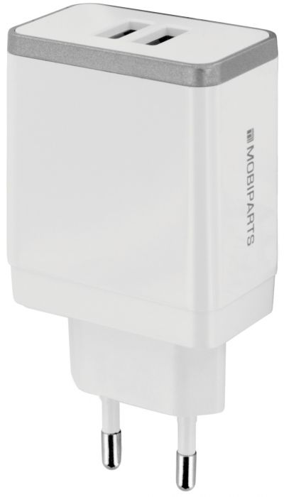 Mobiparts Wall Charger Dual USB 4.8A White MP-37532