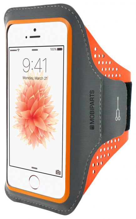 Mobiparts Comfort Fit Sport Armband Apple iPhone 5/5S/SE Neon Orange MP-SACF-IP5-14