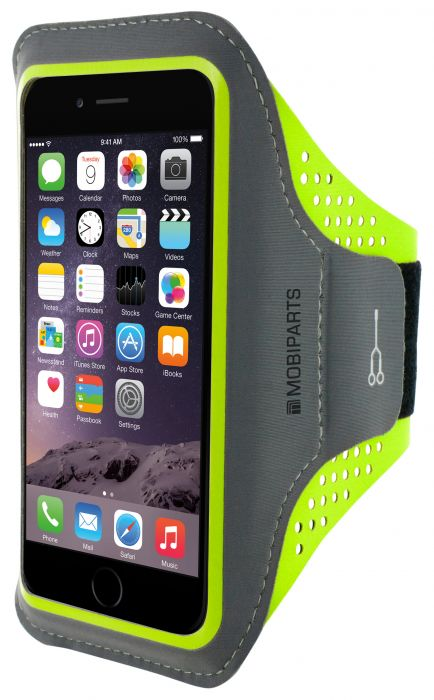 Mobiparts Comfort Fit Sport Armband Apple iPhone 6 Plus / 6S Plus Neon Green MP-SACF-IP6P-06