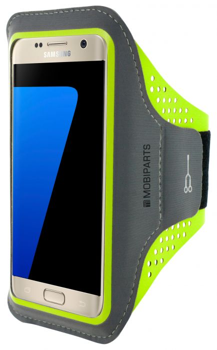 Mobiparts Comfort Fit Sport Armband Samsung Galaxy S7 Neon Green MP-SACF-S7-06
