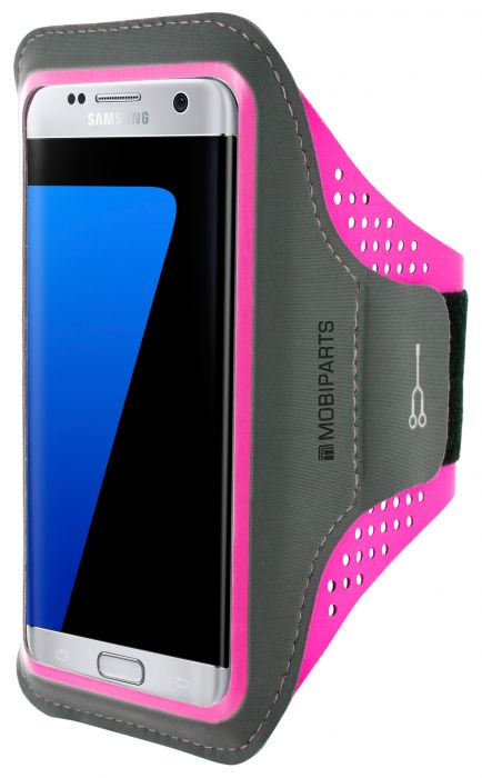 Mobiparts Comfort Fit Sport Armband Samsung Galaxy S7 Edge Neon Pink MP-SACF-S7E-03