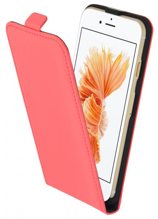 Mobiparts Premium Flip Case Apple iPhone 7 Peach Pink PRE-FLIPV2-IP7-15