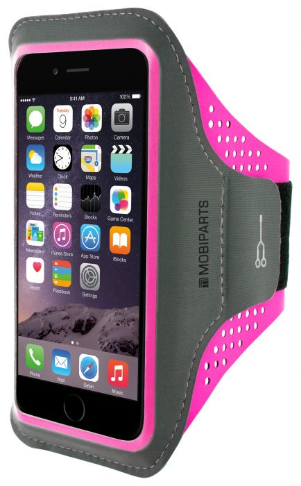 Mobiparts Comfort Fit Sport Armband Apple iPhone 7 Plus Neon Pink MP-47730