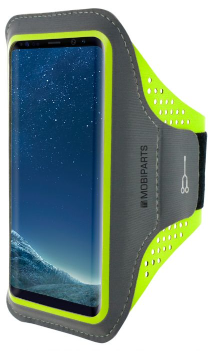 Mobiparts Comfort Fit Sport Armband Samsung Galaxy S8 Neon Green MP-51286