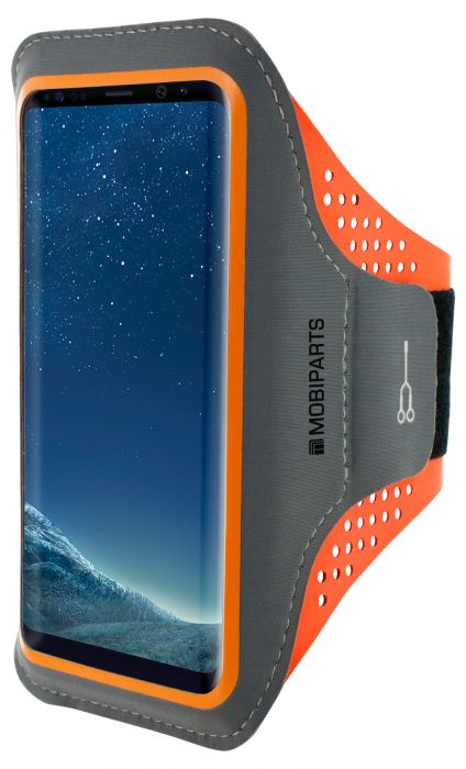 Mobiparts Comfort Fit Sport Armband Samsung Galaxy S8 Neon Orange MP-51287
