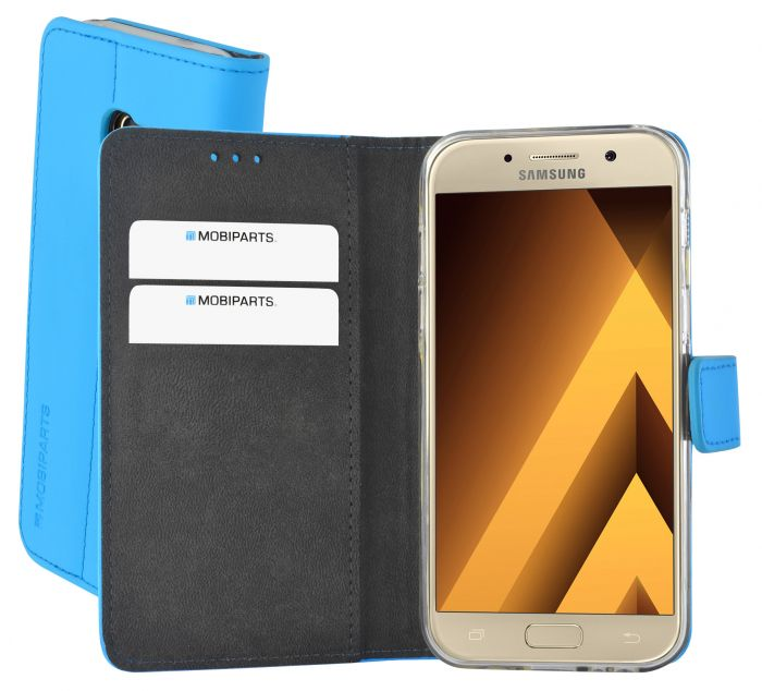 Mobiparts Premium Wallet TPU Case Samsung Galaxy A3 (2017) Light Blue MP-51297