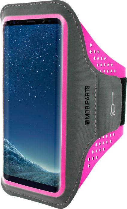 Mobiparts Comfort Fit Sport Armband Samsung Galaxy S8 Plus Neon Pink MP-54816