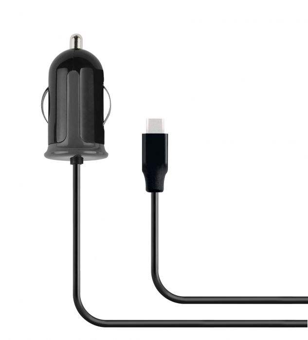 Mobiparts Car Charger USB-C 2.4A Black MP-56006